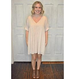 Lyla's: Clothing, Decor & More Feeling Free Babydoll Dress: Natural