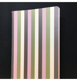 Lyla's: Clothing, Decor & More Green and Pink Striped Notebook