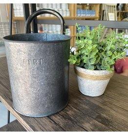 Pomp & Prose Gunmetal Litre Bucket PPT