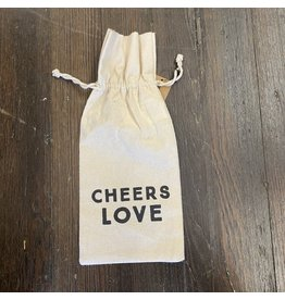 Pomp & Prose Cheers Love Canvas Wine Bag PPT