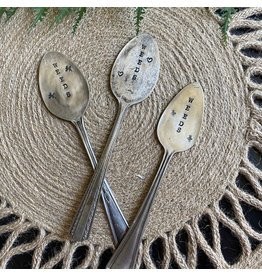 """Pomp & Prose """"Weeds """" Vintage Spoon Plant Marker PPT"""