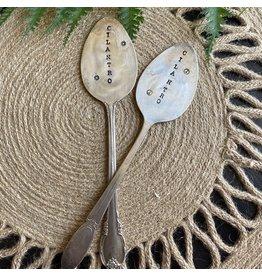 """Pomp & Prose """"Cilantro """" Vintage Spoon Plant Marker PPT"""