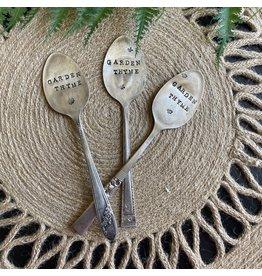 """Pomp & Prose """"Garden Thyme"""" Vintage Spoon Plant Marker PPT"""