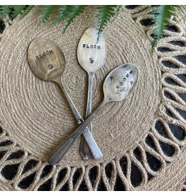 """Pomp & Prose """"Bloom """" Vintage Spoon Plant Marker PPT"""