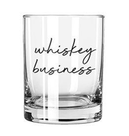 Lyla's: Clothing, Decor & More Whiskey Business Rocks Glass