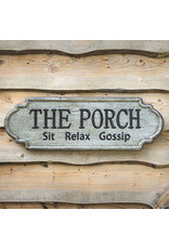 "Pomp & Prose ""The Porch"" Metal Sign PPT"