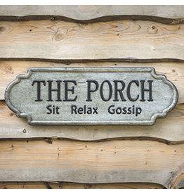 "Pomp & Prose ""The Porch"" Metal Sign PPT"