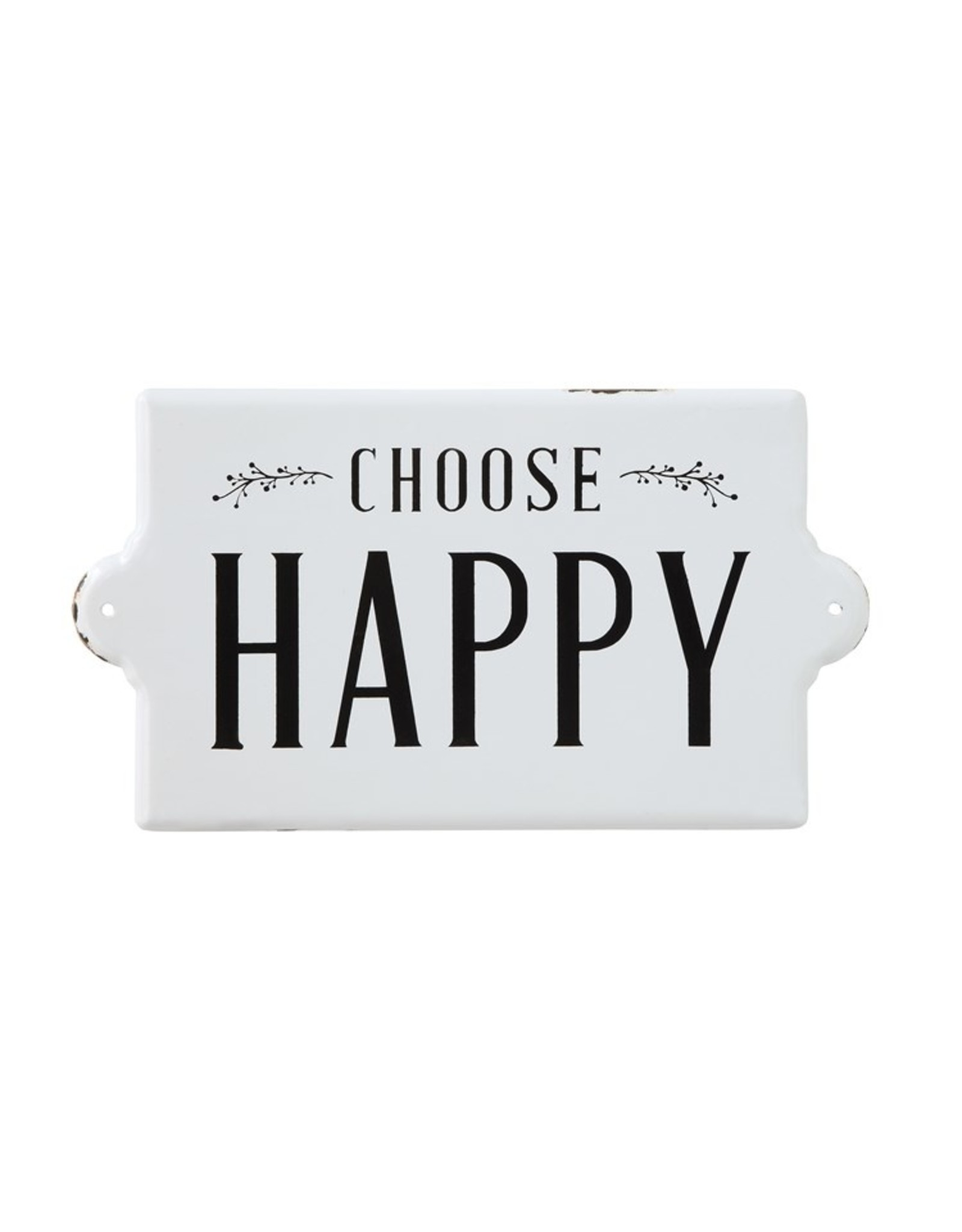 "Pomp & Prose ""Choose Happy"" Metal Sign PPT"