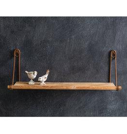 Pomp & Prose Wall Mounted Wood Shelf PPT