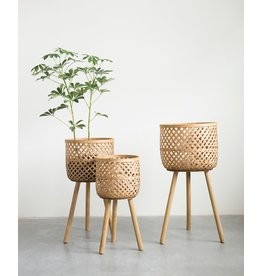 Pomp & Prose Large Woven Planter Stand PPT