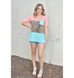 Lyla's: Clothing, Decor & More Just Peachy Colorblock Top