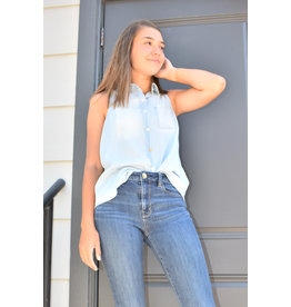 Lyla's: Clothing, Decor & More Denim Button Front Top