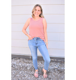 Lyla's: Clothing, Decor & More Cut It Out Red Striped Top