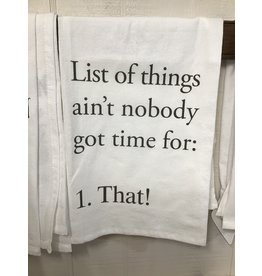 Pomp & Prose List of Things Towel PPT