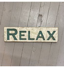 "Pomp & Prose ""Relax"" Wood Sign PPT"