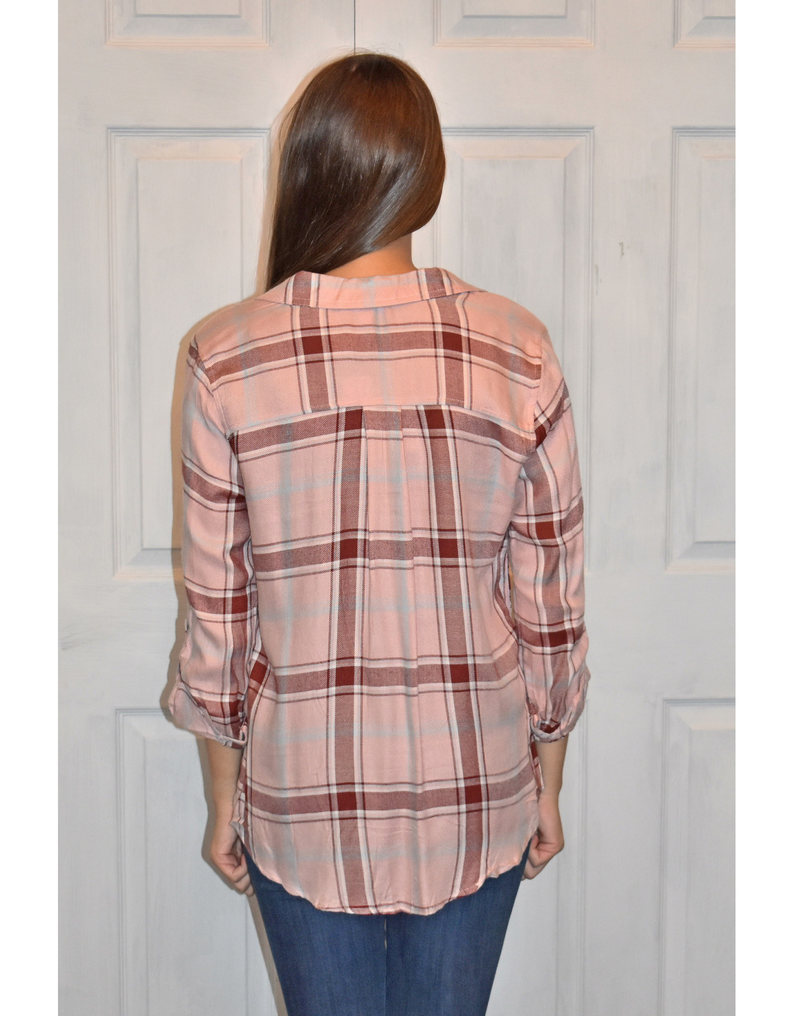 Lyla's: Clothing, Decor & More All I Know Pink Plaid Top