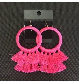 Lyla's: Clothing, Decor & More Savannah Pink Earrings