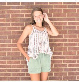 Lyla's: Clothing, Decor & More Olive Summer Shorts