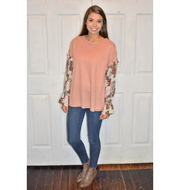 Lyla's: Clothing, Decor & More Watch Me Contrast Sleeve Top