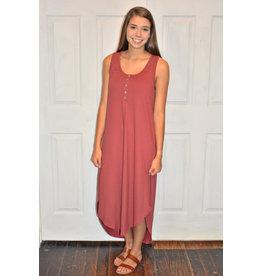 Lyla's: Clothing, Decor & More Make It True Marsala Midi Dress