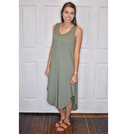 Lyla's: Clothing, Decor & More Make It True Olive Midi Dress
