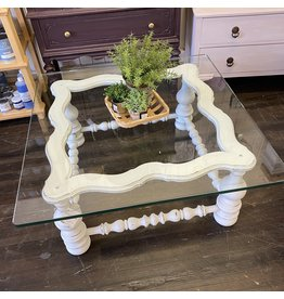 Pomp & Prose Vintage Glass Top Coffee Table PPT