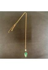 Lyla's: Clothing, Decor & More Green Arrow Necklace