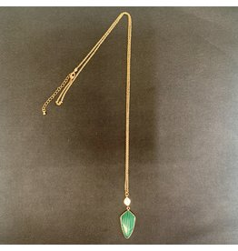 Lyla's: Clothing, Decor & More Green Arrow Necklace