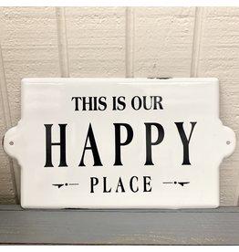 Pomp & Prose Happy Place Metal Plaque PPT