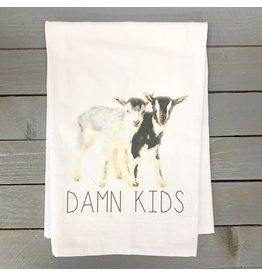 Pomp & Prose Damn Kids Tea Towel PPT