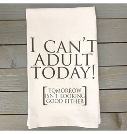 Pomp & Prose I Can't Adult Today Towel PPT