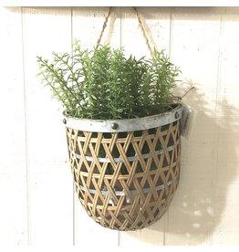 Pomp & Prose Short Cross Weave Hanging Basket PPT