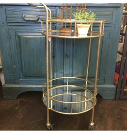Pomp & Prose Gold and Mirror Bar Cart PPT