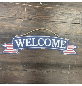 Pomp & Prose Welcome Small Metal Banner PPT