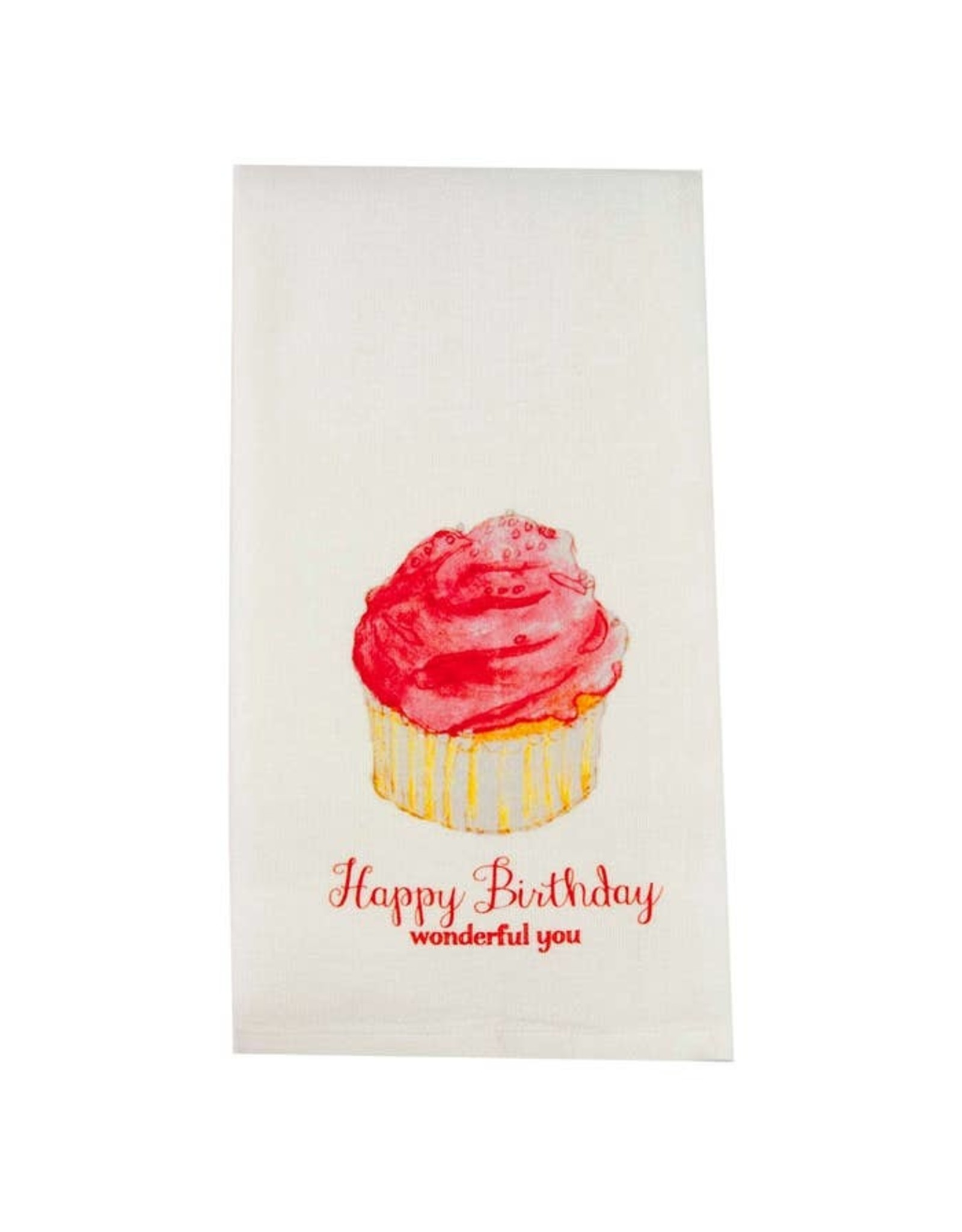 Pomp & Prose Happy Birthday Cupcake Tea Towel PPT