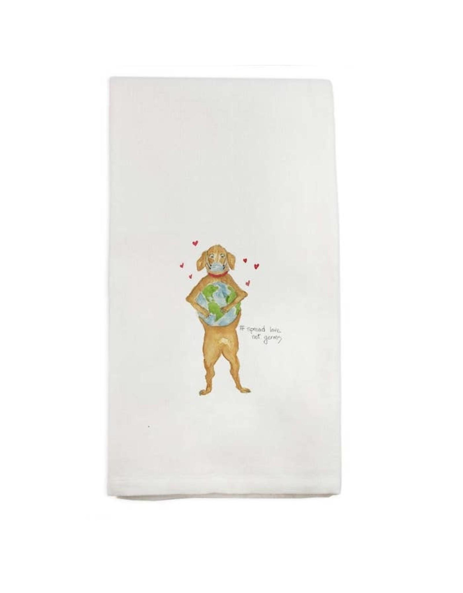 Pomp & Prose Spread Love Not Germs Tea Towel PPT