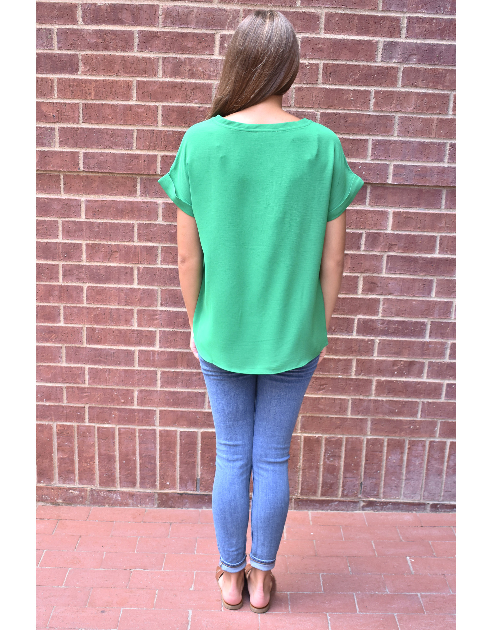 Lyla's: Clothing, Decor & More Green With Envy Top