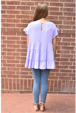 Lyla's: Clothing, Decor & More Sun Kissed in Lavender Ruffle Top