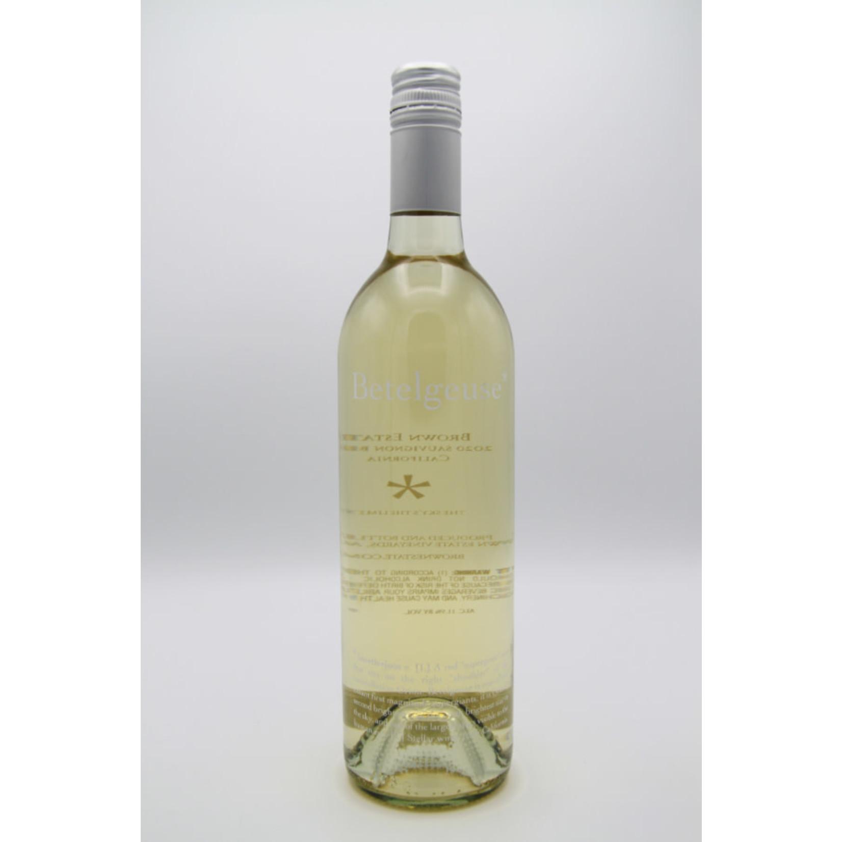 2020 Brown Estate 'Betelgeuse' Sauvignon Blanc