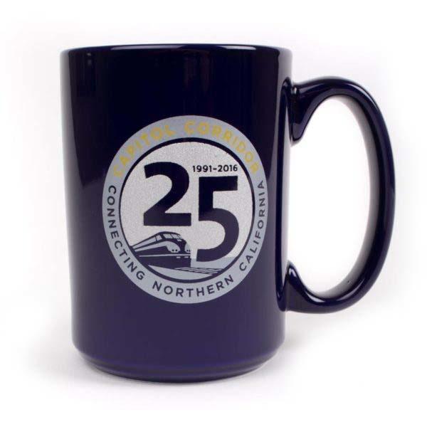 Proforma Albrecht & Co. Capitol Corridor 25th Anniversary Mug