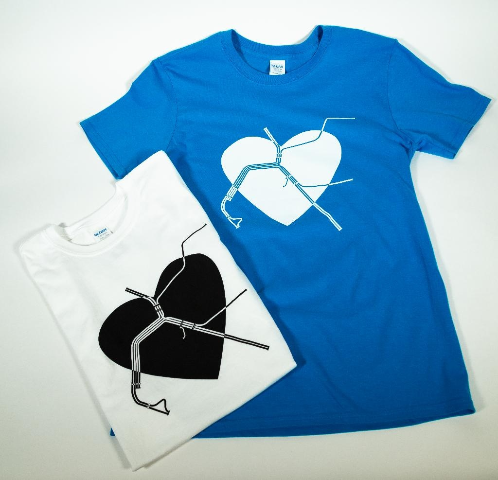 Gildan BART Heart T-Shirt Mens
