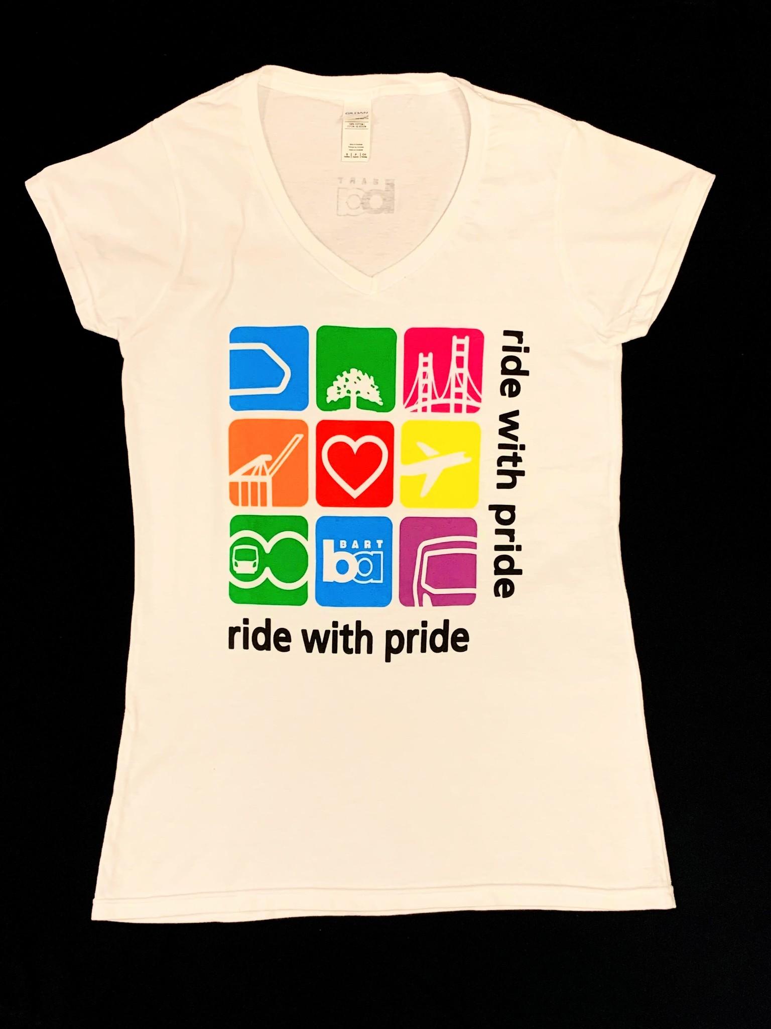 Gildan BART Pride Bay Area Icons V-Neck Ladies