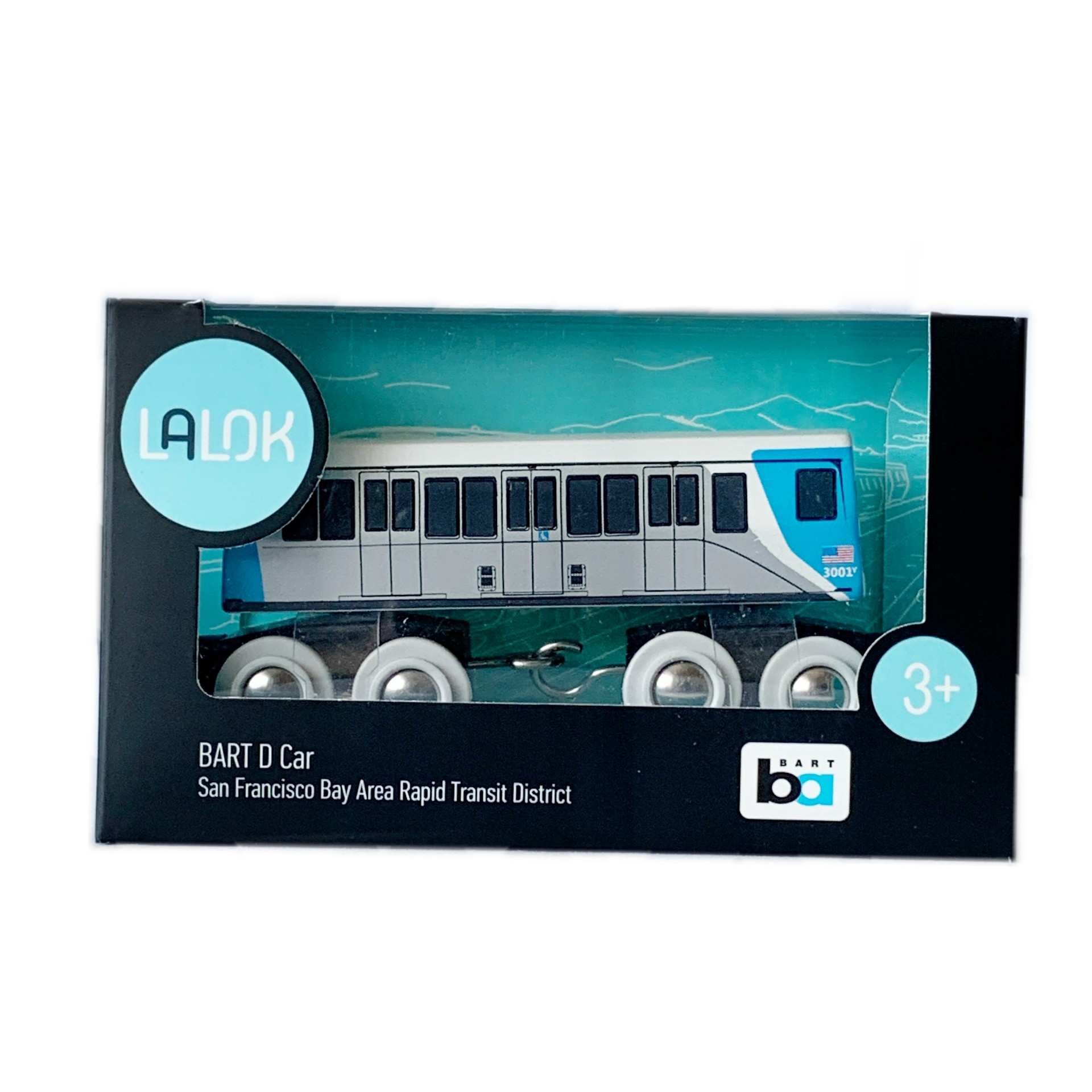 LALOK Wooden Toy Train Car - Fleet of the Future