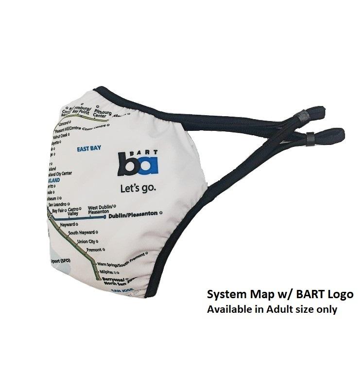 Roshambo BART Let's Go Logo System Map Face Mask