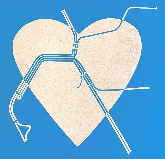 Gildan BART Heart T-Shirt Mens