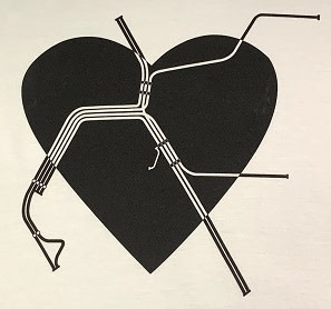 Gildan BART Heart T-Shirt Ladies