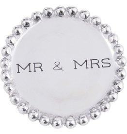 MudPie Mr. & Mrs. Beaded Metal Coasters
