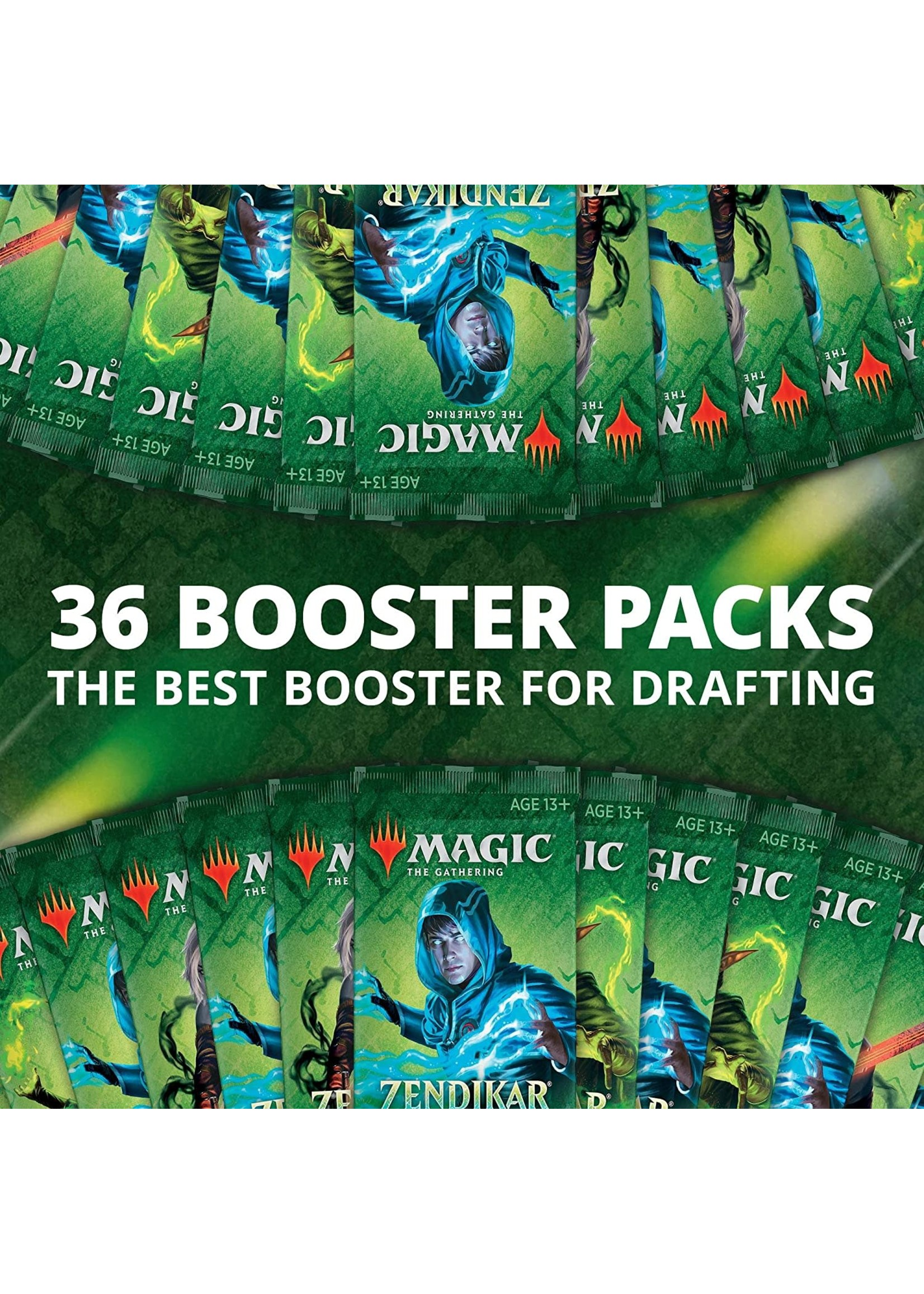 Magic: The Gathering Magic the Gathering CCG: Zendikar Rising Draft Booster Display (36)