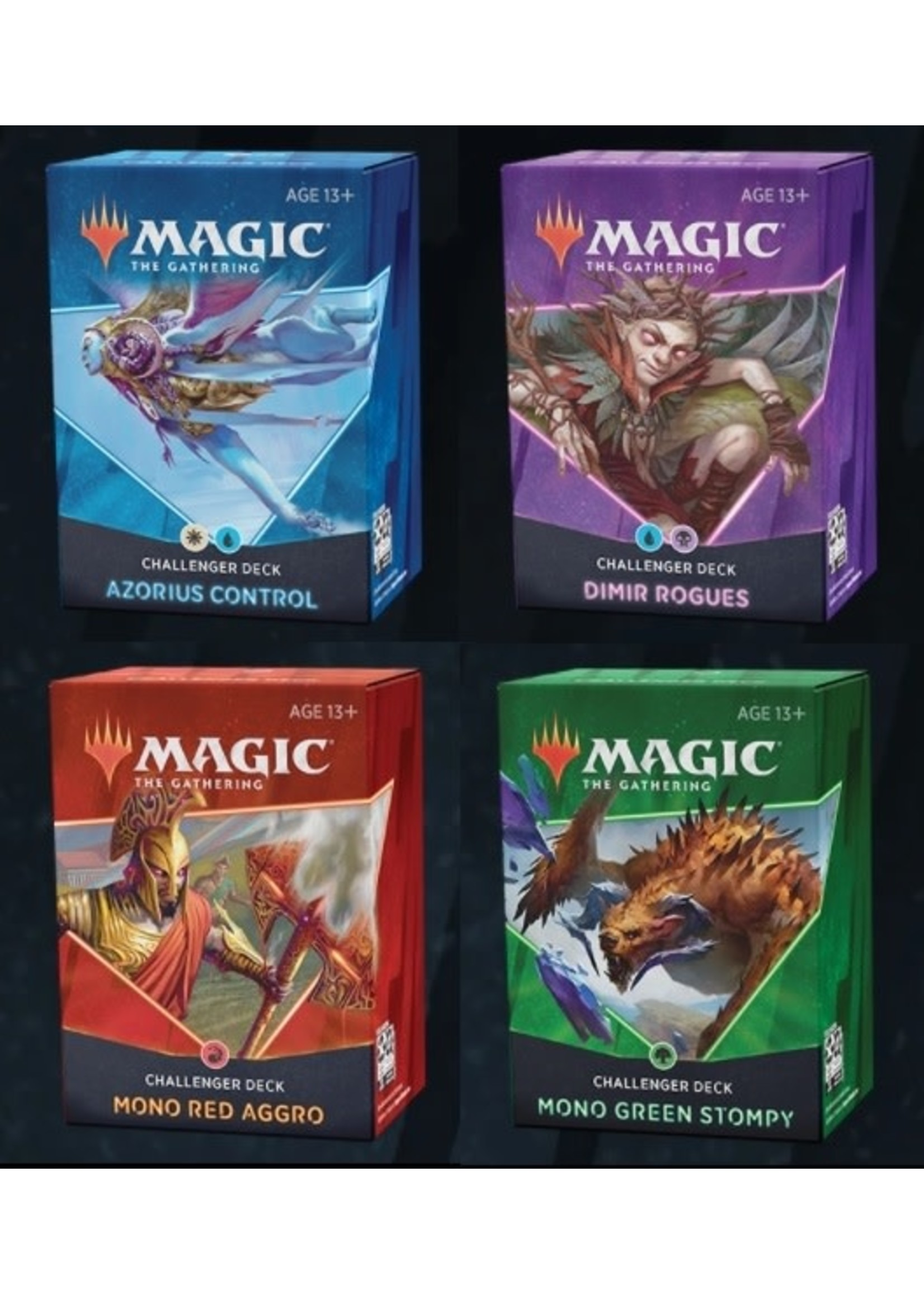 Magic: The Gathering Magic the Gathering CCG: Challenger Deck 2021 Display (8)