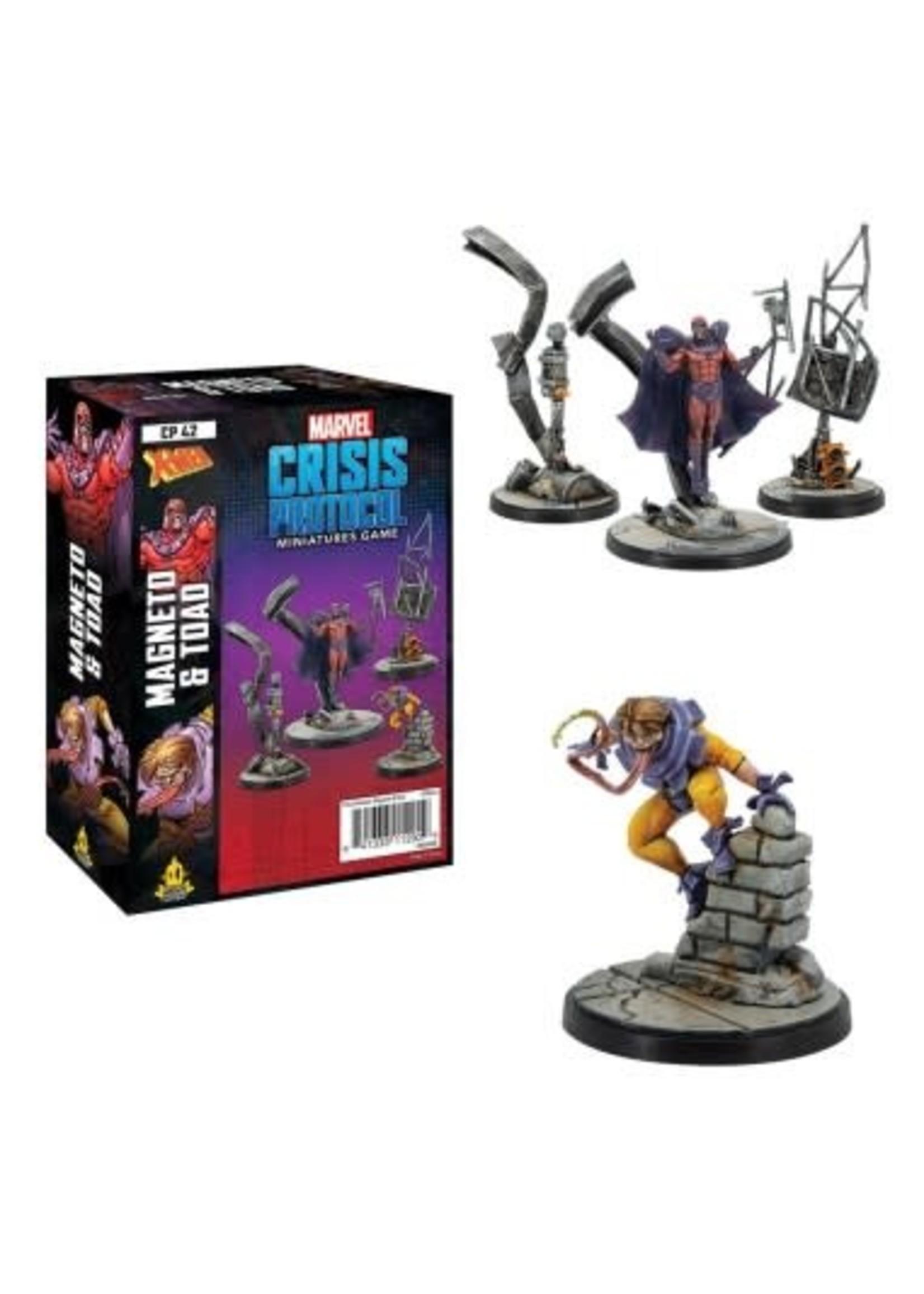 Atomic Mass Games Marvel Crisis Protocol: Magneto & Toad